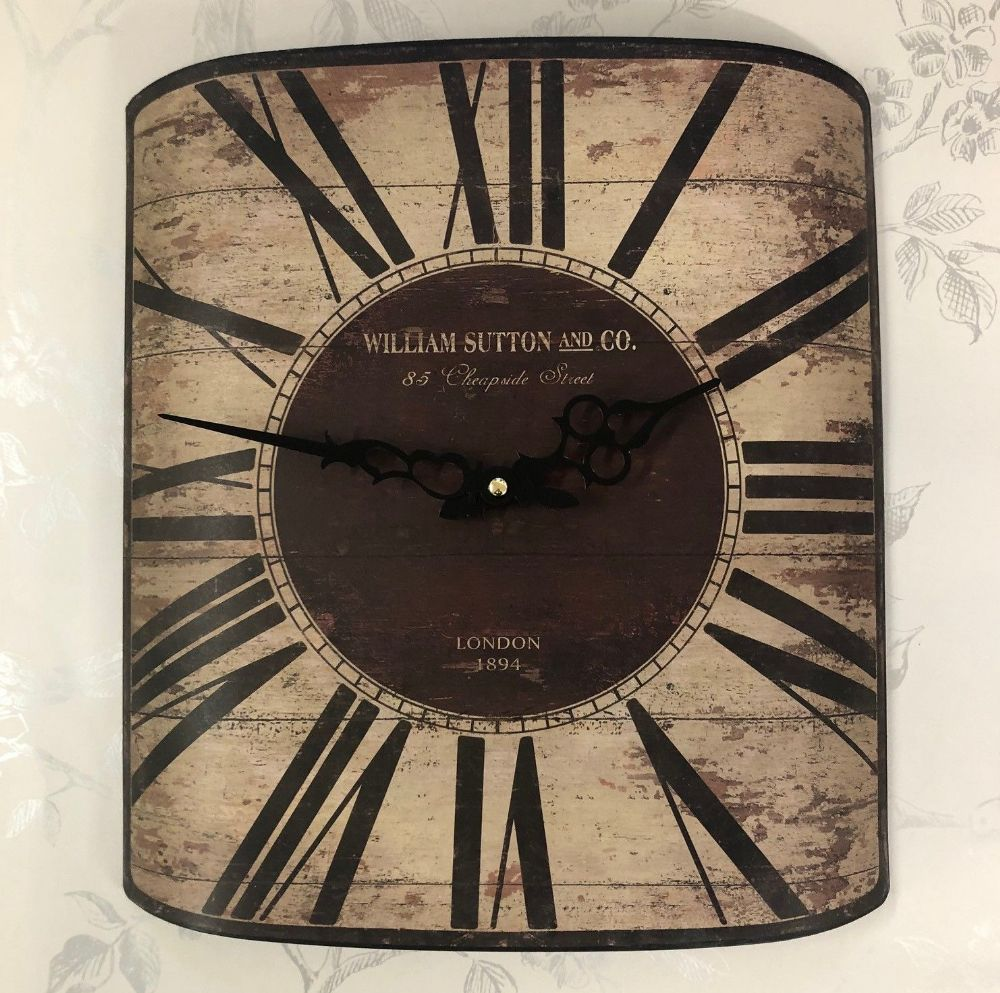 William Sutton & Co Large Decorative Metal London Theme Wall Clock